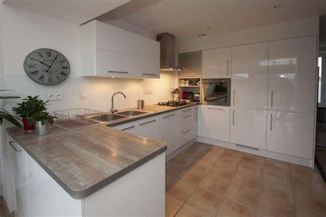 cuisine blanc laque pas cher meuble cuisine blanc laqu 233 cuisine en image