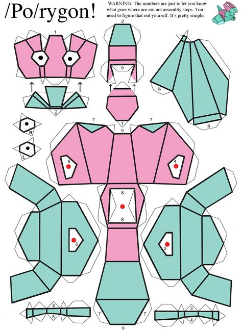 porygon  pokemon difficulty level easy papercraft