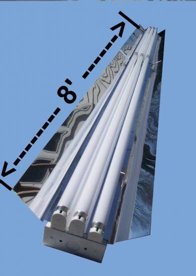 8 foot 6 bulb t8 high output fluorescent shop light fixtures