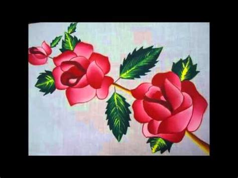 Fabric Painting Designs Youtube