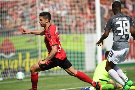 Darstellung der heimbilanz von sc freiburg gegen fc augsburg. SC Freiburg bleibt erstklassig: 2:0 gegen Augsburg