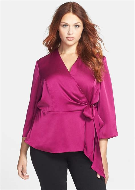 evening blouse alex evenings alex evenings side tie wrap blouse plus