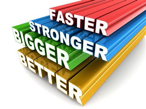 Faster Bigger Stronger Better Stock Illustration