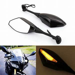 Motorcycle Led Turn Signals Integrated Mirrors For 2012