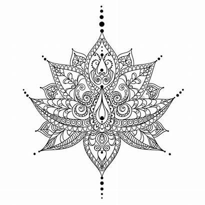 Mandala Coloring Unique Pages Printable Leaf