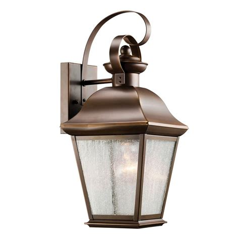 shop kichler mount vernon 16 75 in h olde bronze outdoor