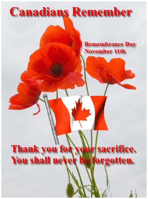 Canada Remembrance Day November Shall Never