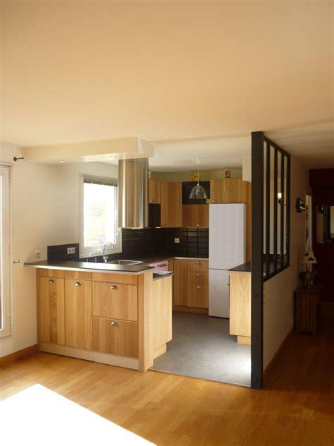 cuisines ouvertes cuisine ouverte avec verrière style atelier