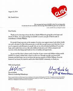 glide pamela grow With end of year charitable giving letter