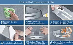 Kleber Für Aluminium : wangel eckablage duschkorb duschablagen ohne bohren f r ~ Jslefanu.com Haus und Dekorationen