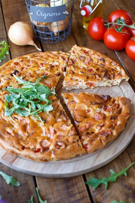 quiche sans pate  la tomate ricotta oignons cuisine