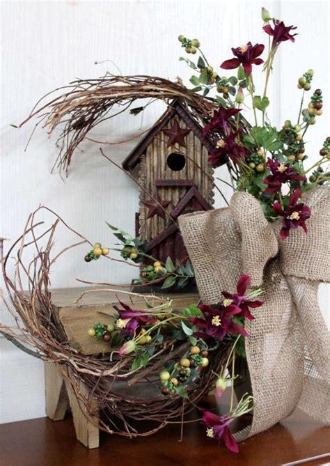 primitive decor country floral front porch