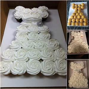 make an amazing wedding dress cupcake cake for bridal shower With wedding dress cupcake cake