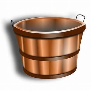 Clipart - wooden bucket