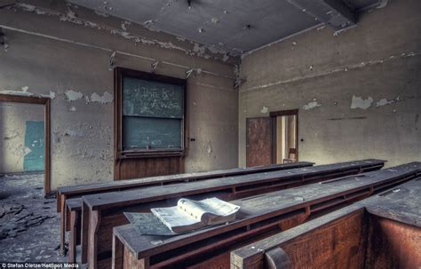 creepy abandoned classrooms  dust filled laboratories