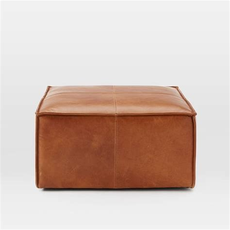 ottoman west elm leather ottoman saddles and leather on