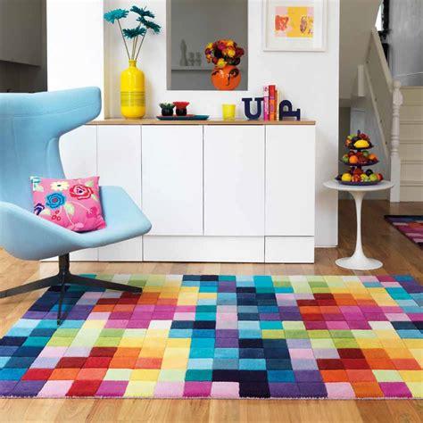 tapis rond multicolore idees de decoration interieure