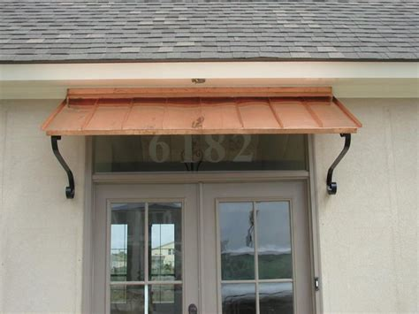 6 Ft. Copper Window Or Door Awning With Decorative Scrolls