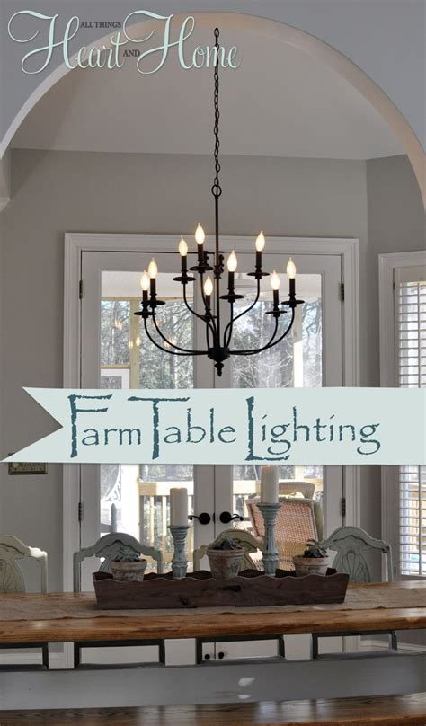 above kitchen table lighting lighting the farmhouse table the winner house