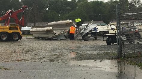 Boat Shop Albany by Huggins Outboard Damaged During Monday Storms Wfxl