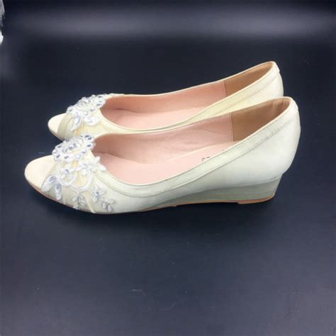 light gold wedding shoes dark ivory wedding wedges light gold women bridal low