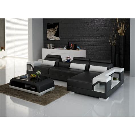canapé lit cuir center canapé d 39 angle en cuir nimes option lit convertible