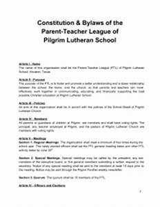 parent teacher league constitution and by laws for church With church constitution template