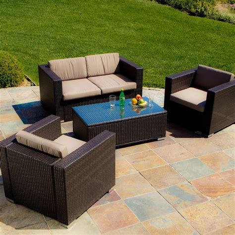 murano all weather wicker outdoor conversation set