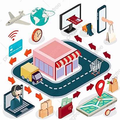 Commerce Isometric Shopping Concept Winkel Isometrico Konzept