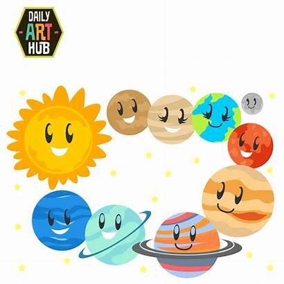 Solar Planets System Clip Clipart Cliparts Space