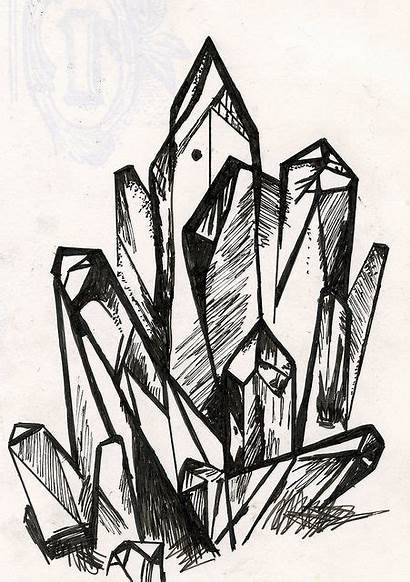 Crystal Drawing Sketch Tattoo Sketches Flickr Crystals