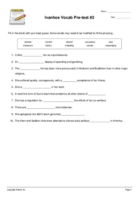 Religion Worksheets