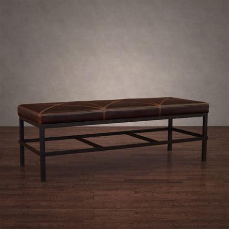 vintage leather bench antique steel vintage tobacco leather bench free 3233