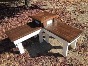 Hometalk DIY Corner Bench With Built-In Table