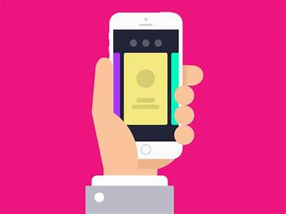 Card Interaction Mobile User App Flat Dribbble