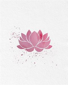 Watercolor Art Lotus Flower gift Modern 8x10 Wall Art
