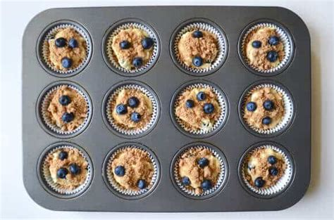 Add some lemon zest if you like. Blueberry Coffee Cake Muffins with Streusel   Just a Taste