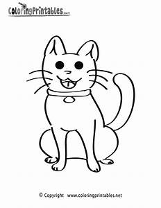 Kitten Coloring Page A Free Animal Coloring Printable