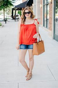 Second Trimester Summer Outfit - Tassel Tank | By Lauren M