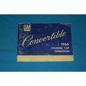Original 1966 Convertible Top Operation Manual