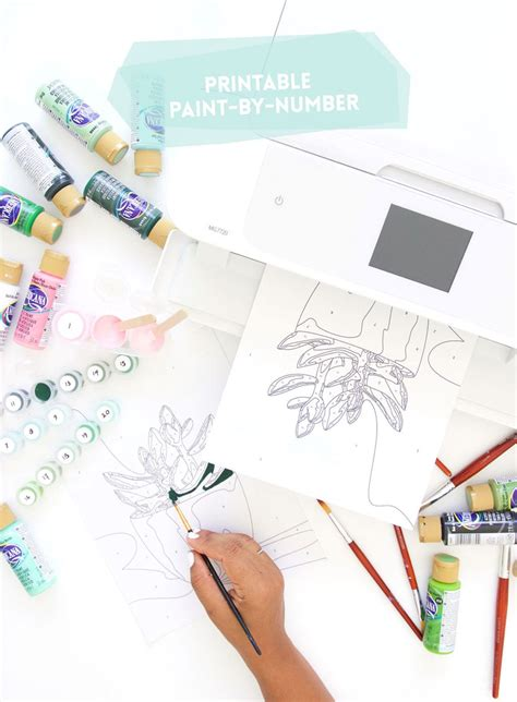 printable paint by number damask