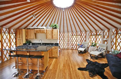 Country Style Kitchens Ideas - yurt interiors pacific yurts