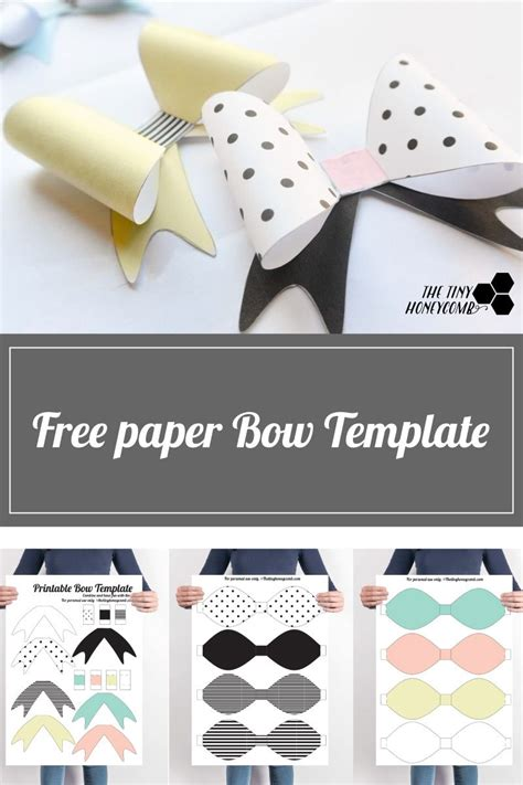 diy printable paper bow  template diy gift wrap