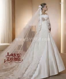 the shoulder wedding dress with lace sleeves a line the shoulder lace wedding dress with sleeves sygmall