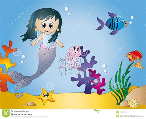 Cartoon : Seascape Cartoon Stock Images