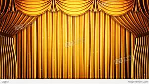 stage curtain 2 fg2 stock animation 322618 With yellow stage curtains