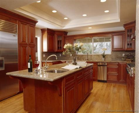 kitchen island cherry wood pictures of kitchens traditional medium wood kitchens cherry color
