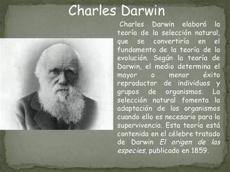 charles darwin resumen corto origen hombre