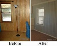 how to paint paneling tips for painting wood paneling, old 1970's cabinets, etc ...