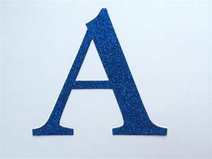 large die cut glitter cardboard letter or number large 4 With giant glitter letters